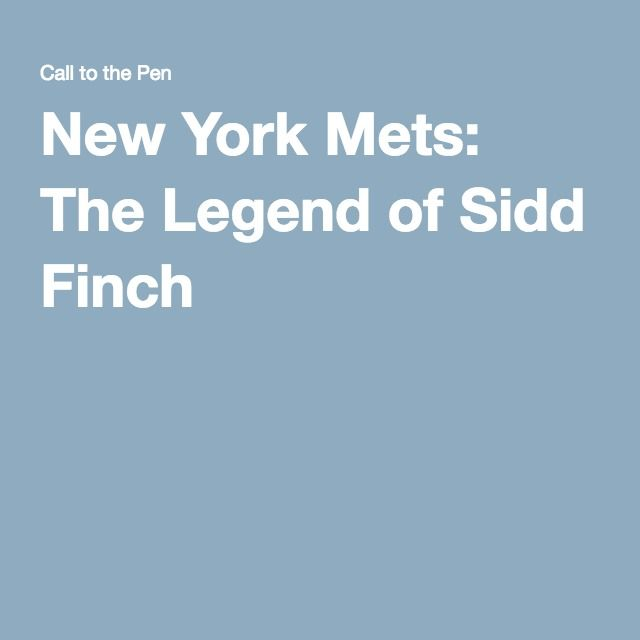 New York Mets: The Legend of Sidd Finch