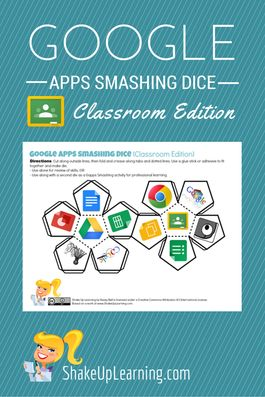 Go Google and Smash Some Apps with Gapps Smashing Dice! This Google Apps Dice was sparked by a request from Lori Curtis on Google+ to make a version that included Google Classroom, Doctopus and Goobric.Google Apps Dice can be used in professional learning. These can be used alone to help review concepts, inspire integration ideas, and …