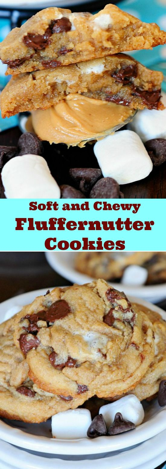 Soft and Chewy Fluffernutter Cookies