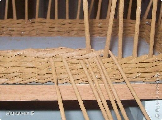 """Эту кромку я нашла в книге """"Плетение"""" Б. Мейнард 1981 г. выпуска (плетение из лозы), попробовала на коробочке для дочки, понравилось. Хочу поделиться. фото 10"""