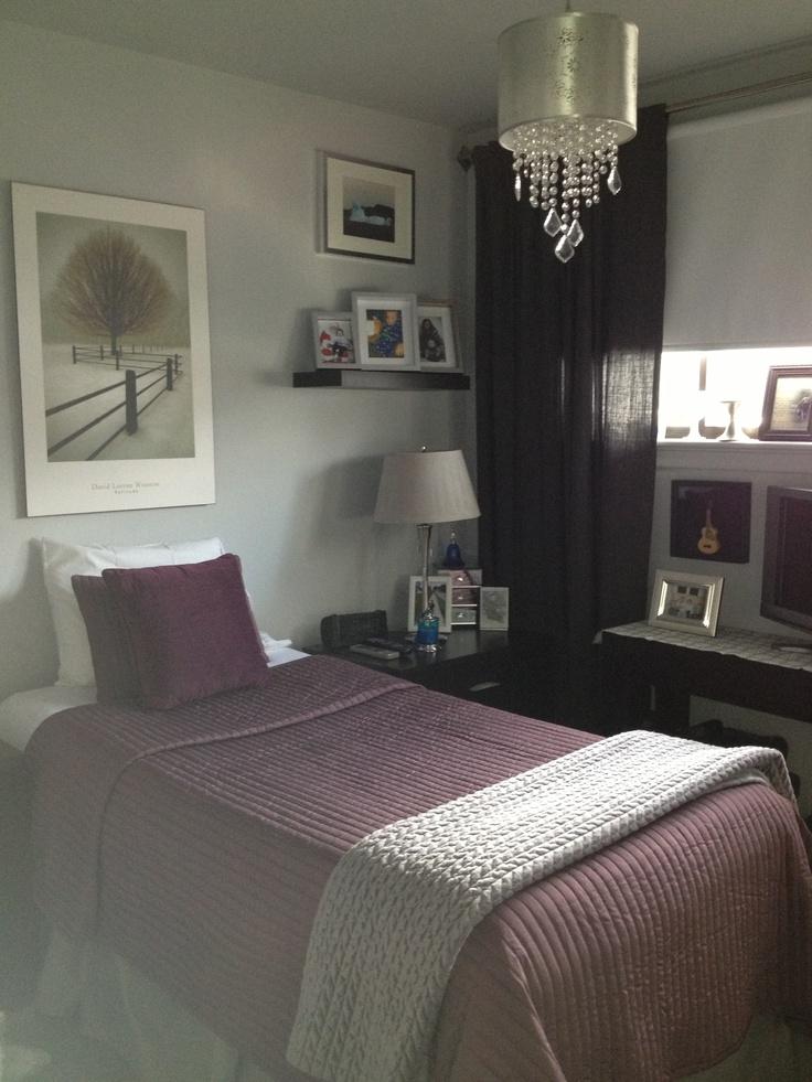 Grey Vintage Bedroom: Purple And Grey Cozy Winter Bedroom