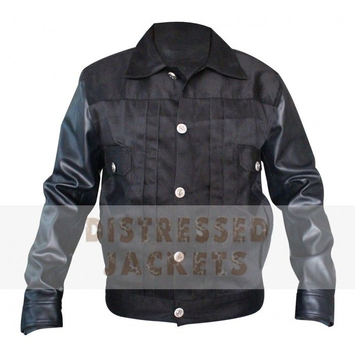 SHINING BLACK LEATHER JACKET FOR BIKERS FOR SALE