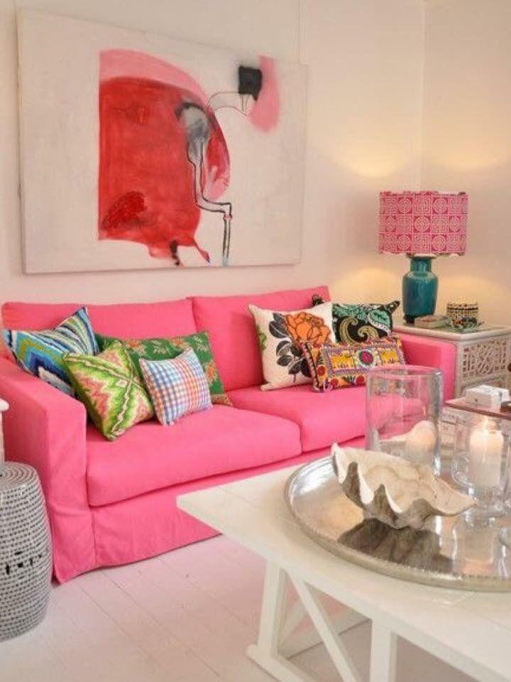 305 besten PINK ROOMS \ DECOR Bilder auf Pinterest Wohnzimmer - wohnzimmer ideen pink