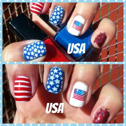 Uñas para 4de julio independencia usa