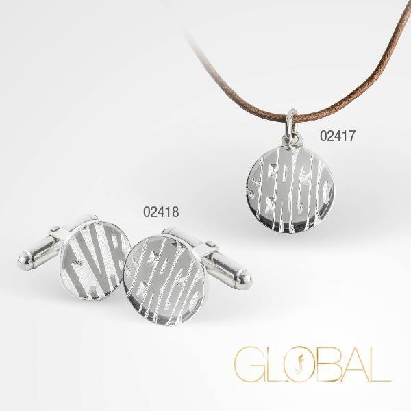 """gemelli e pendente della collezione """"Global"""". gioielli in argento 925°°° realizzati a mano . personalizza il tuo gioiello ."""