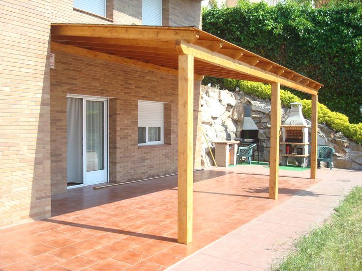17 best images about pergolas de madera con techo de for Ideas para porches
