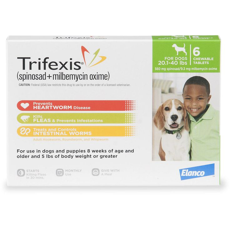 Trifexis Chewable Tablets for Dogs 20.1 to 40 lbs., 6 Pack