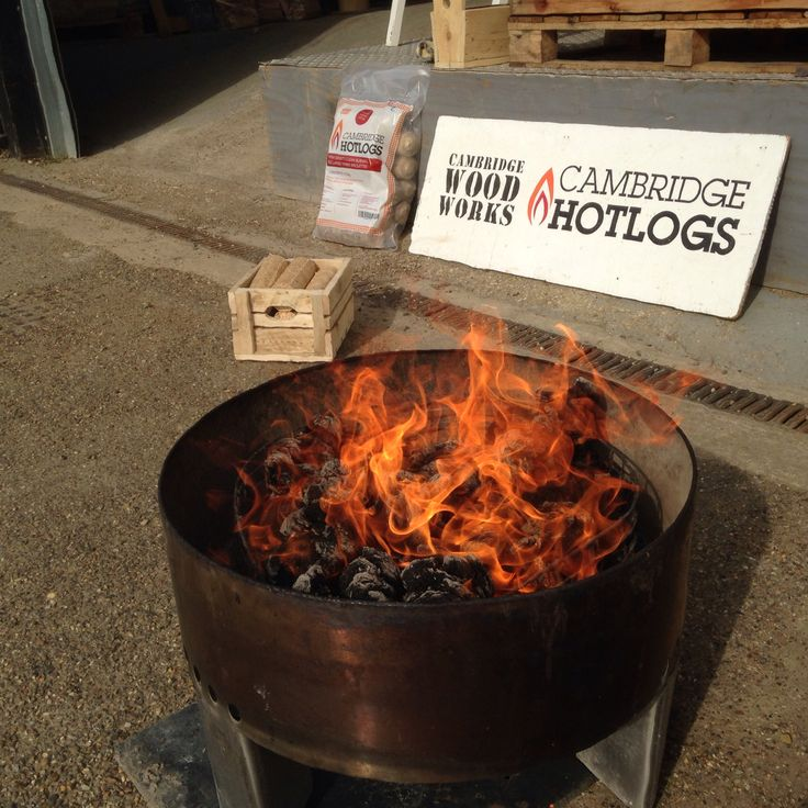 Cambridge #hotlogs are the perfect wood fuel for chimeneas & fire bowls - just £6 per 12.5kg bag!
