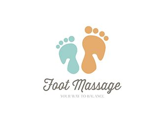 Foot Massage Logo design - logo inspired by the integration of image: hands massaging the feet, the hands are negative space. logo soft colors, suitable for advanced services Price $250.00