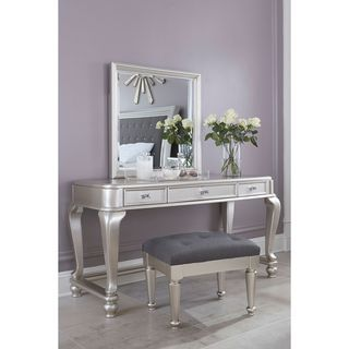 Shop for Signature Design by Ashley Coralayne Silver Upholstered Stool and more for everyday discount prices at Overstock.com - Your Online Furniture Store!