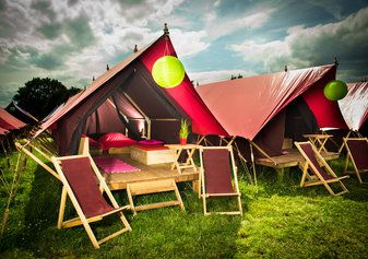 Our palace! Booked in at Dreamville!