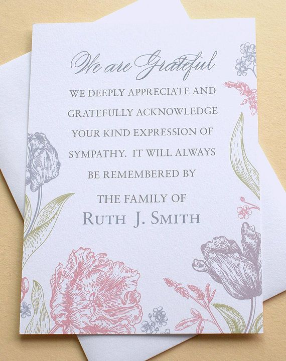 16 best funeral thank you card images on pinterest
