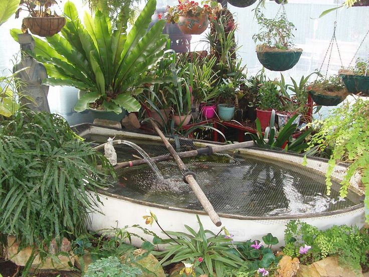 41 best images about boats repurposed on pinterest for Fiberglass garden ponds