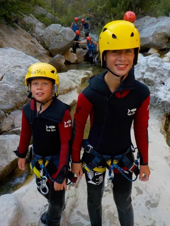 Big smiles and touch of tiredness on the Active Family Montenegro Holiday :)