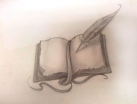 I like the idea of the whole scene coming out of the pages of a book. An idea for when I'm old enough and actually have the nerve to get a tattoo.
