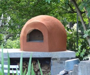 Wood fired clay pizza oven instructable!