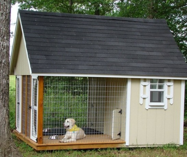 Soo gonna have to build this for my future dogs when i open a kennel!!