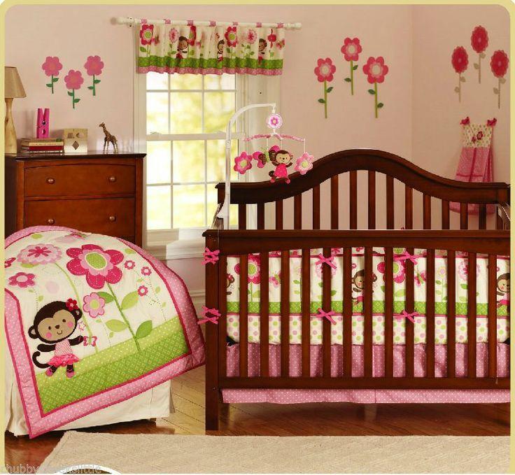 New 6 pcs baby Crib Cot Bedding Set Quilt Bumper Sheet Dust Ruffle