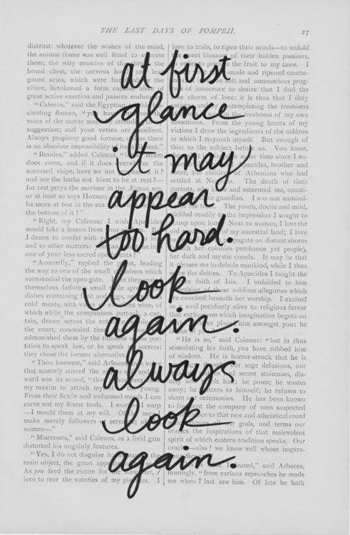 always look again.