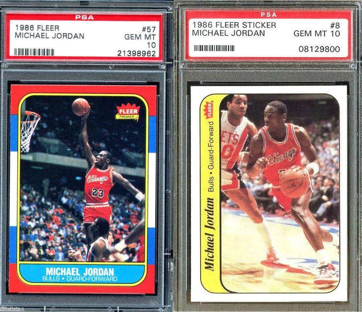 198687 fleer basketball michael jordan 857 rc psa 10