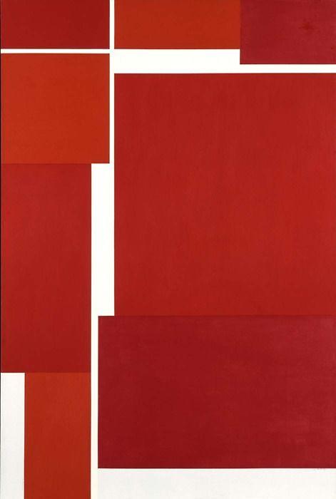 Ilya Bolotowsky (July 1, 1907 - 1981): Architectural Variation, 1971 - acrylic on canvas (Smithsonian)