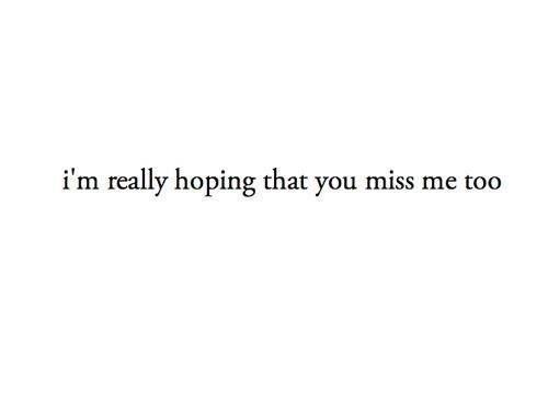 Miss me too, please.