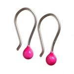 COLOR SPOT ørestikkere, bøjle, neon pink