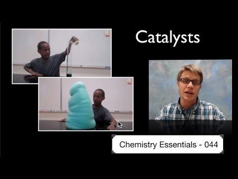 Catalysts: Paul Andersen explains how catalysts can speed up a reaction without being consumed in the reaction. Catalysts can lower the activation energy of reaction be stabilizing the transition state. They can also create new reaction pathways with new reaction intermediates that lower the overall activation energy.