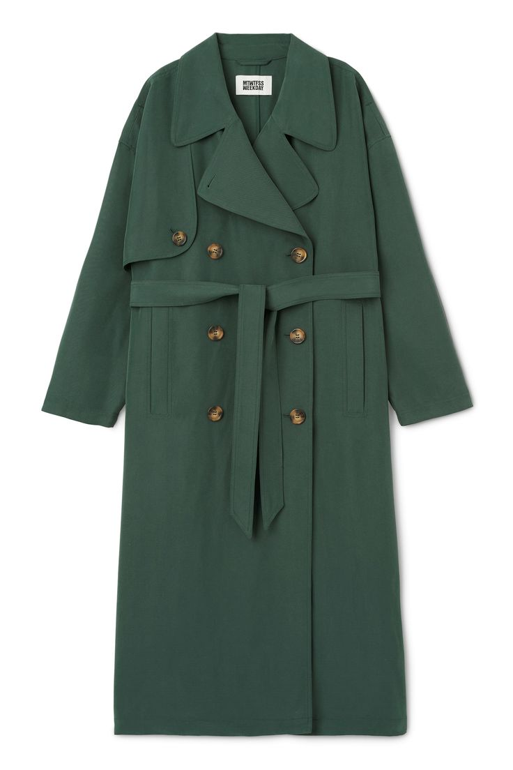 Weekday image 1 of Wild Trench Coat in Green Dark