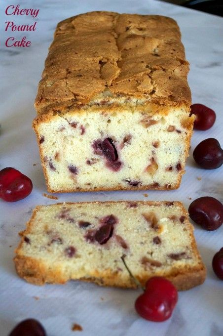 A delicious pound cake made even better with the addition of fresh cherries!