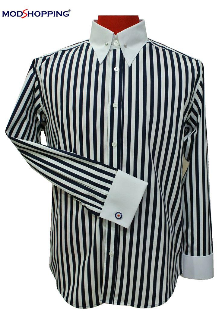 Modshopping - 60's MOD BLACK STRIPE PIN COLLAR SHIRT, £45.00 (http://www.modshopping.com/60s-mod-black-stripe-pin-collar-shirt/)