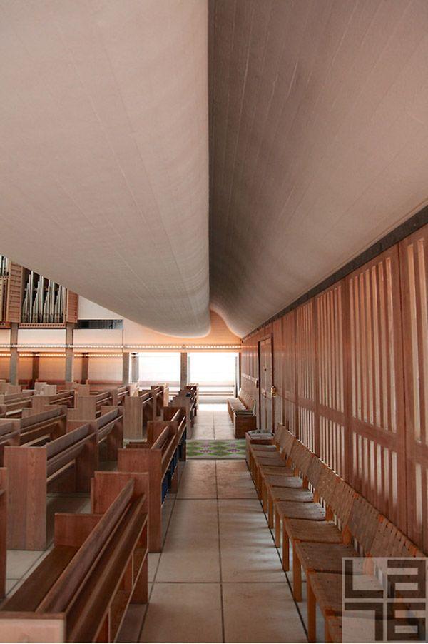 The Bagsværd Church by Jørn Utzon, Denmark. #architecture #light #photography #denmark #copenhagen #utzon #jornutzon #architecturalphotography #kirke #church