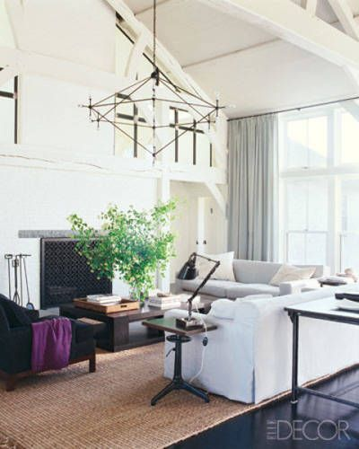 White Living Rooms - ELLE DECOR  Home  Pinterest