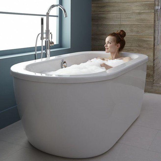 Cadet 57 75 X 27 75 Freestanding Soaking Bathtub Soaking