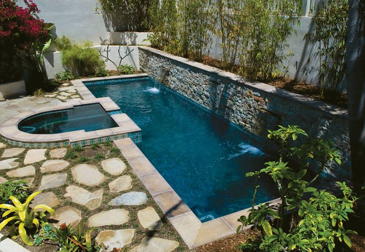 Love the stones around this lap pool backyard ideas Lap pool ideas