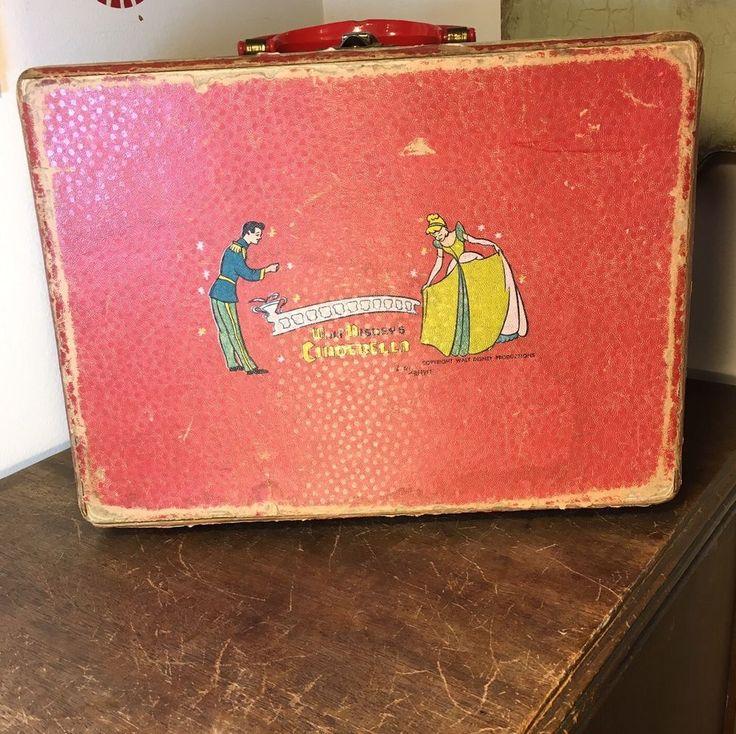 Vintage Cinderella Case, Walt Disney's Cinderella Box with Handle  | eBay