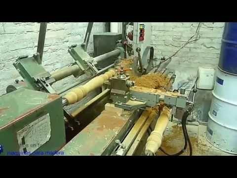 torno copiador palpador Bardolet Maquinas para Madera - YouTube