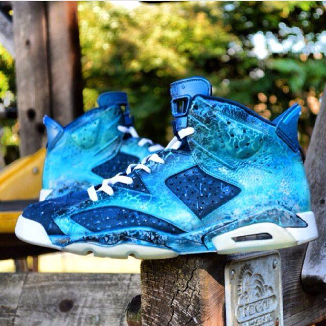 """""""Ocean 6"""" custom Jordan 6s"""