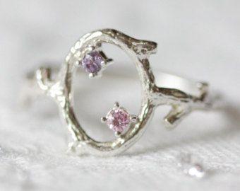 Bloem herten ring ring rose goud herten gewei ring door TedandMag