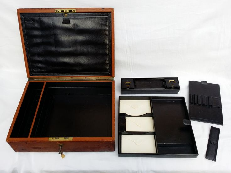 Antique writing Box - Bramah Lock & Key