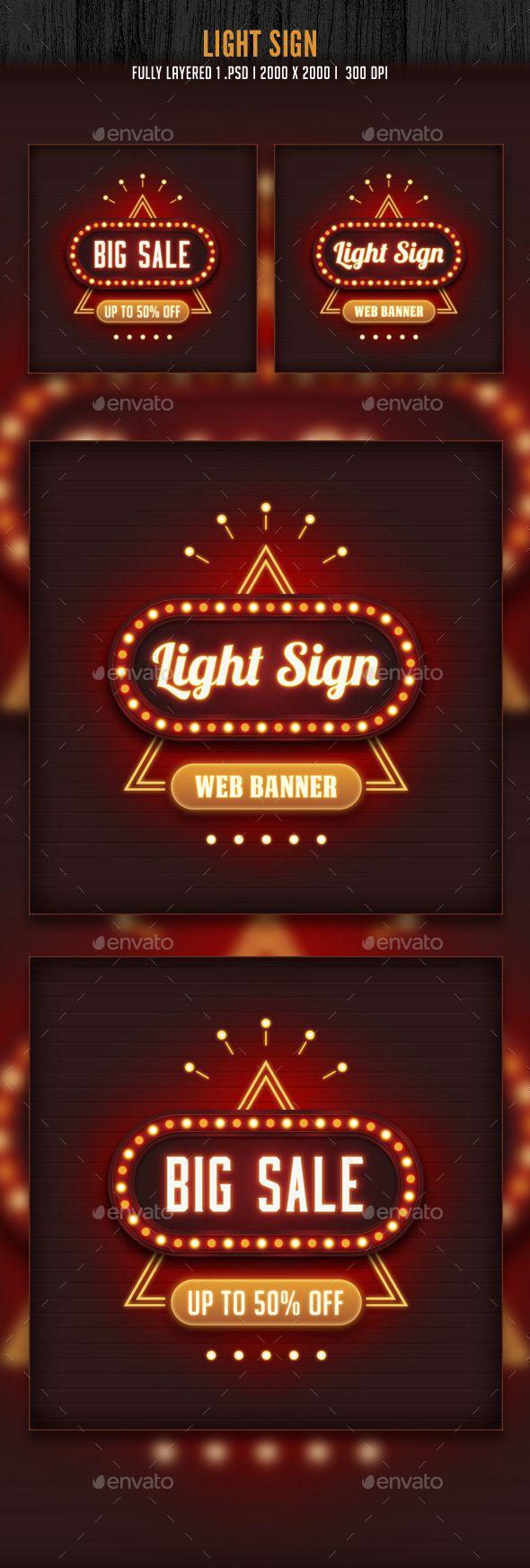 Light Sign Banner