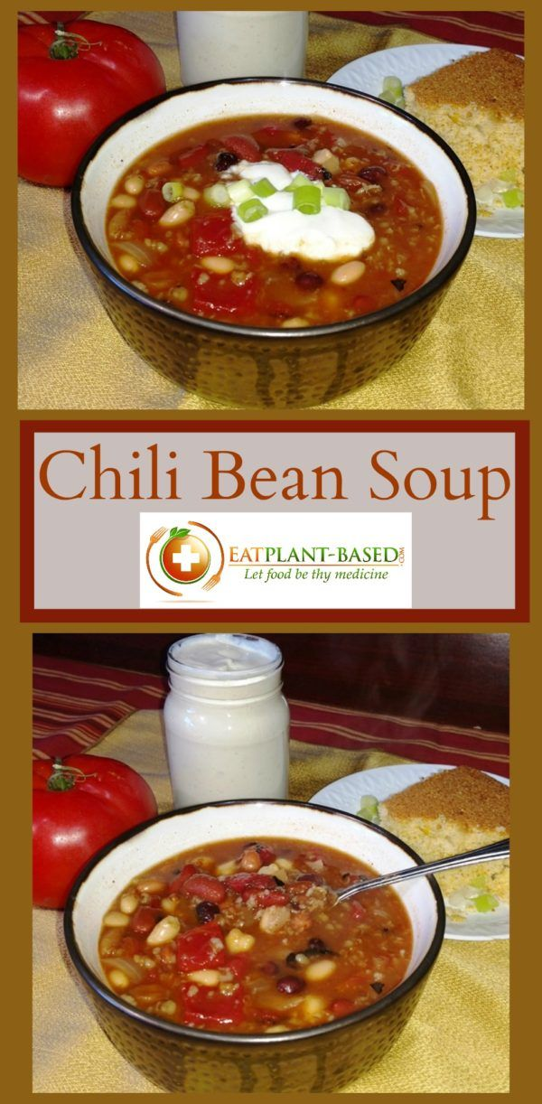 I decided to play around with a new soup recipe last weekend and try it out on family members at Grandma's Sunday afternoon lunch. It's a hearty chili bean soup topped with vegan sour cream and chives and served with country cornbread. They loved it! https://blog.eatplant-based.com/recipe/vegan-chili-bean-soup/