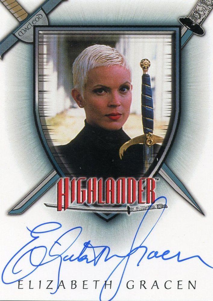 The Complete Highlander Elizabeth Gracen as Amanda Autograph Card Auto A4