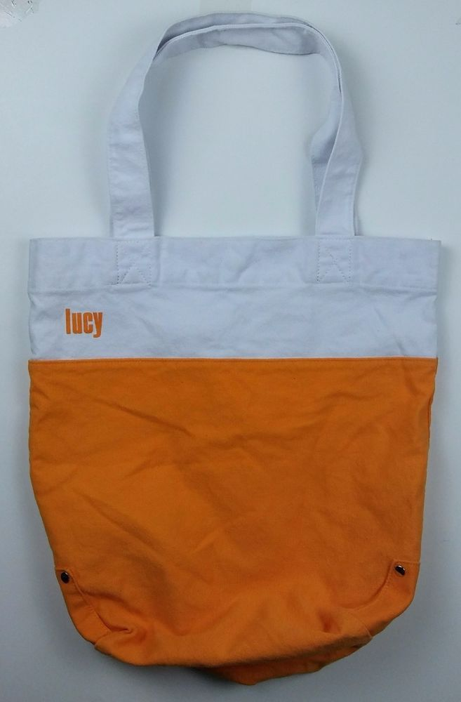 Lucy Athletic Wear Activewear Brand Canvas Tote Bag - for Gym Groceries or Beach #Lucy #Tote