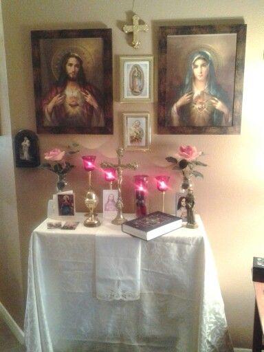 Catholic home altars on pinterest home altar catholic and altars