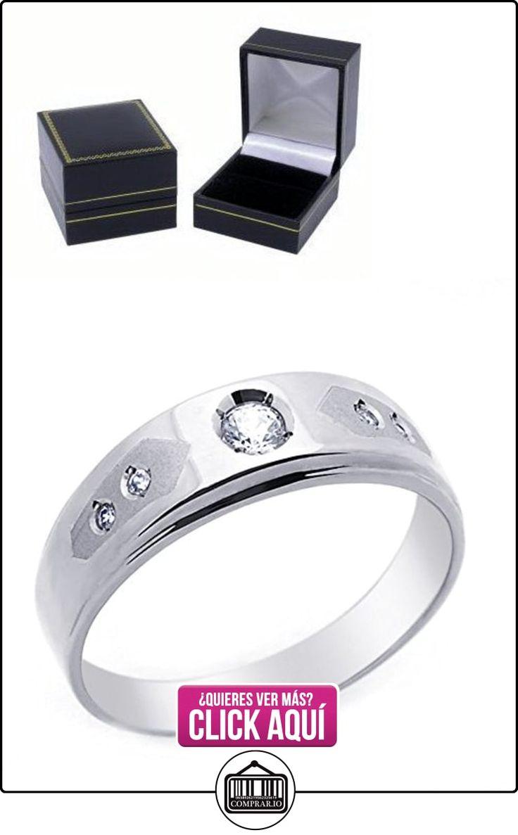 Pequeños Tesoros - Anillo de hombre - Anillo de compromiso y boda de oro 0.3ct Circonita Oro blanco  ✿ Joyas para hombres especiales - lujo ✿ ▬► Ver oferta: https://comprar.io/goto/B00BFX9FP2