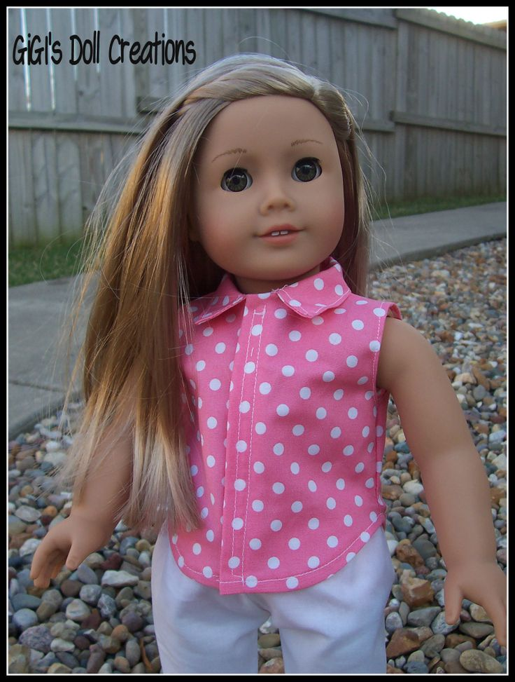 GiGI's Doll Creations - Isabelle Palmer is modeling this summer capri outfit listed on Etsy - GiGi's Doll Creations