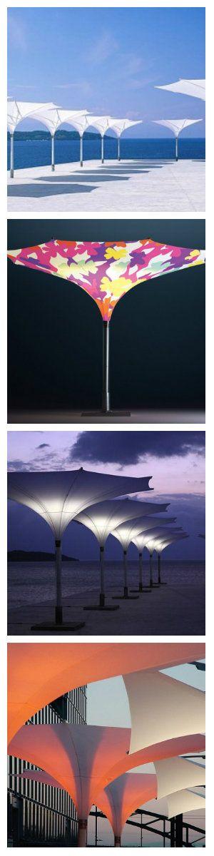 Солнечный зонт со светодиодами