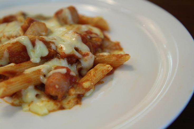 비엔나 펜네 치즈 파스타 만들기 (Penne Pasta with Vienna Sausage Recipe)