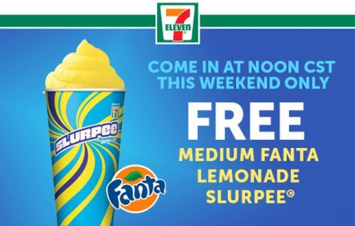 7-Eleven Free Medium Fanta Lemonade Slurpee via 7-Eleven 7Rewards App on August 1 & 2, 2015 after 12PM CST - US